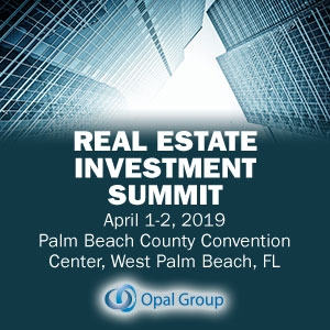 Real Estate Investment Summit 2019 (West Palm Beach, FL) 1-2 Apr
