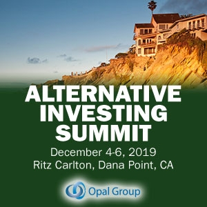Alternative Investing Summit 2019 (Dana Point, CA) 4-6 Dec
