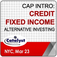 Catalyst Cap Intro: Credit | Fixed Income Alternative Investing (New York City) 23 Mar 2020
