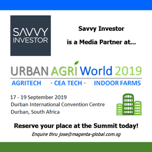 Urban Agri World 2019 (Durban) 17-19 Sep