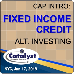 Cap Intro: Credit - Fixed Income Alternative Investing (New York City) 17 Jun 2019
