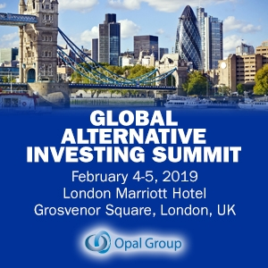 Global Alternative Investing Summit 2019 (London) 4-5 Feb