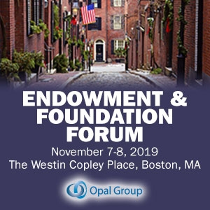 Endowment and Foundation Forum 2019 (Boston, MA) 7-8 Nov