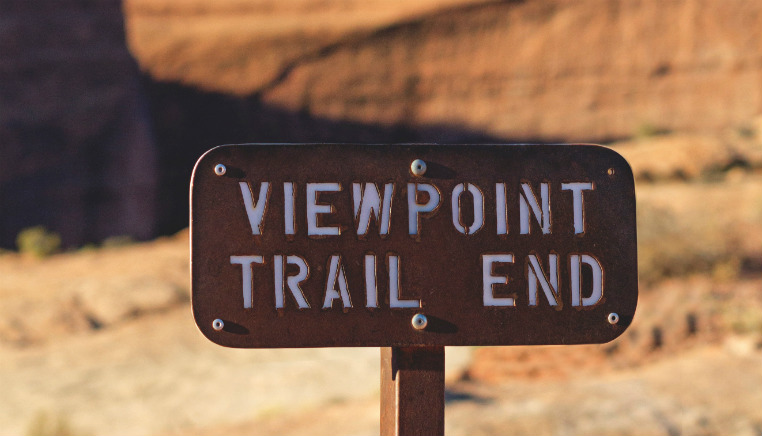 viewpoint sign desert