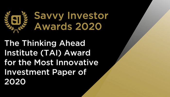 TAI Award for Most Innovative Investment Paper 2020
