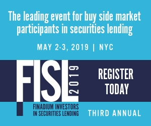 Finadium Investors in Securities Lending Conference (New York City) 2-3 May 2019