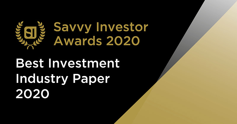 Best Investment Industry Paper 2020