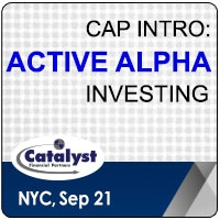 Catalyst Cap Intro: Active Alpha Investing (New York City) 21 Sep 2020