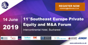 11th Southeast Europe Private Equity and M&A Forum (Bucharest) 14 Jun 2019
