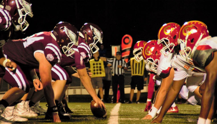 american football face off
