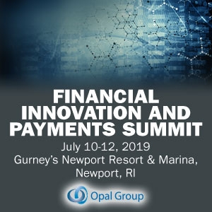 Financial Innovation and Payments Summit 2019 (Newport, RI) 10-12 Jul