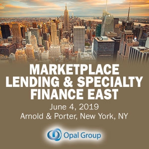 Marketplace Lending and Specialty Finance 2019 (New York City) 4 Jun