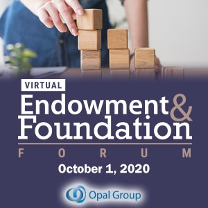 Virtual Event 1 Oct 2020: Endowment and Foundation Forum
