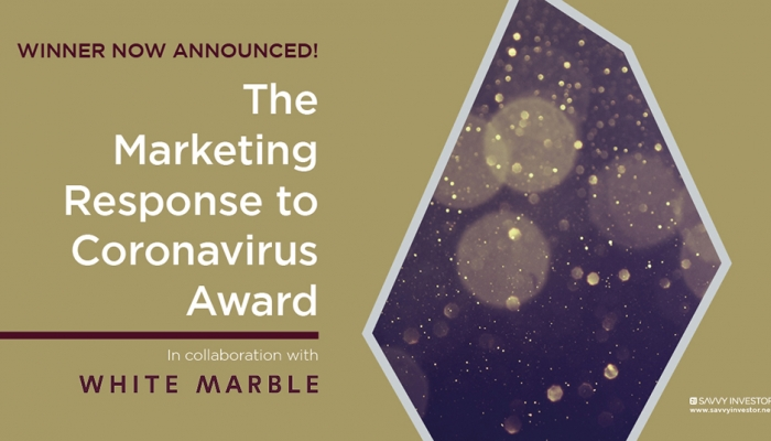 Marketing Response to Coronavirus Award 2020