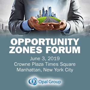 Opportunity Zones Forum 2019 (New York City) 3 Jun