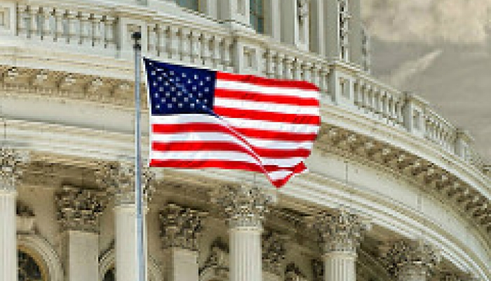 US flag Capitol Hill Donald Trump market impact