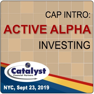Cap Intro: Active Alpha Investing (New York City) 23 Sep 2019
