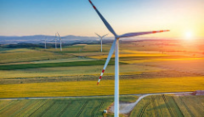 Savvy Awards 2017 Best ESG Paper wind turbine sunset