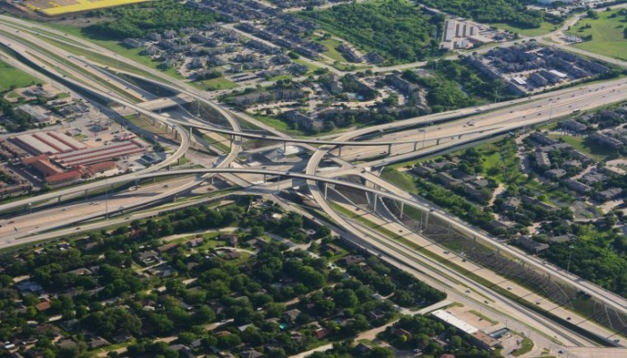 motorway intersection overview