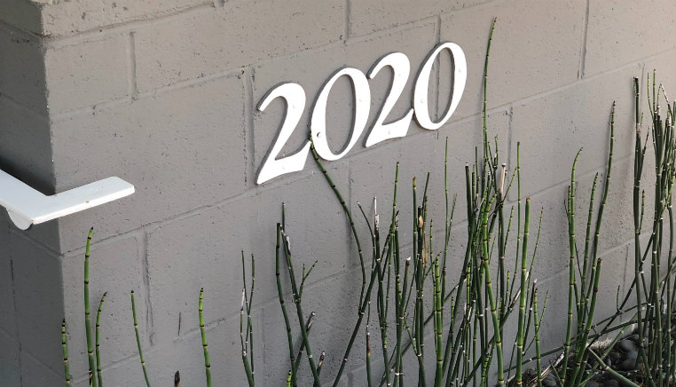 2020 number on wall